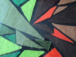 8. Detail of 'Geometric Chaos' by Kay McKenna