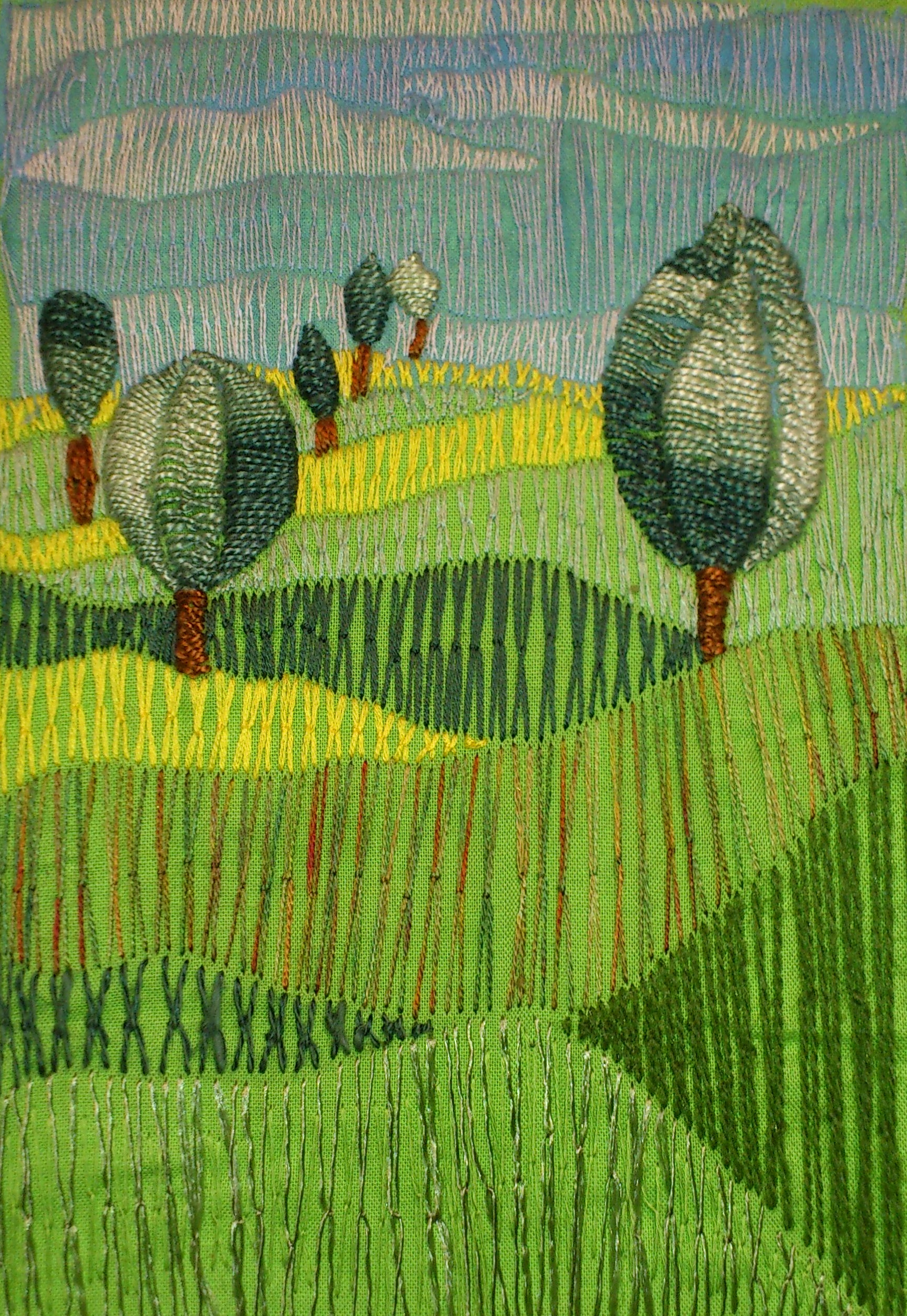Yellow Meadow (detail), Dee Kelly, element15