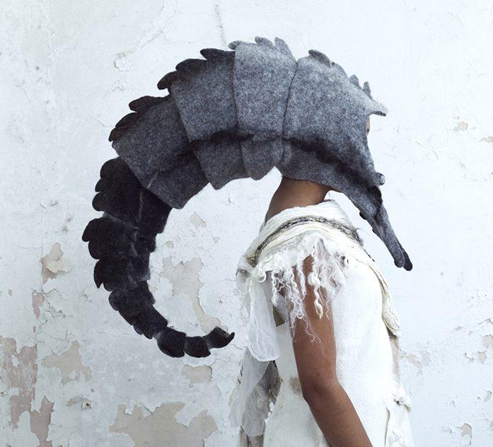 gladys paulus felt and textile artist head wear hats